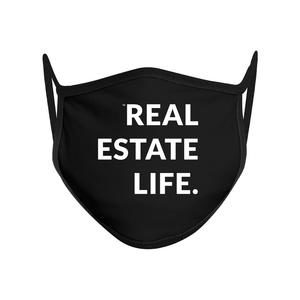 Black Real Estate Life Facemask