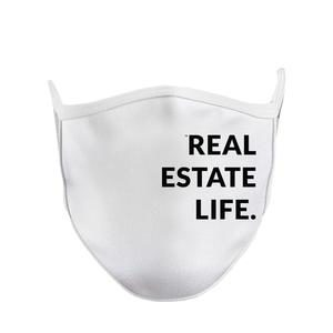 White Real Estate Life Facemask